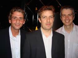 Me,Morgan and Nev at Service Stream XMAS 2007