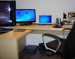 IKEA new desk duel screen