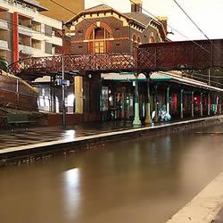 Flash Floods Windsor Train Station Melbourne