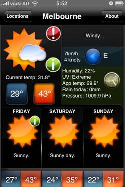 Melbourne 44 degrees