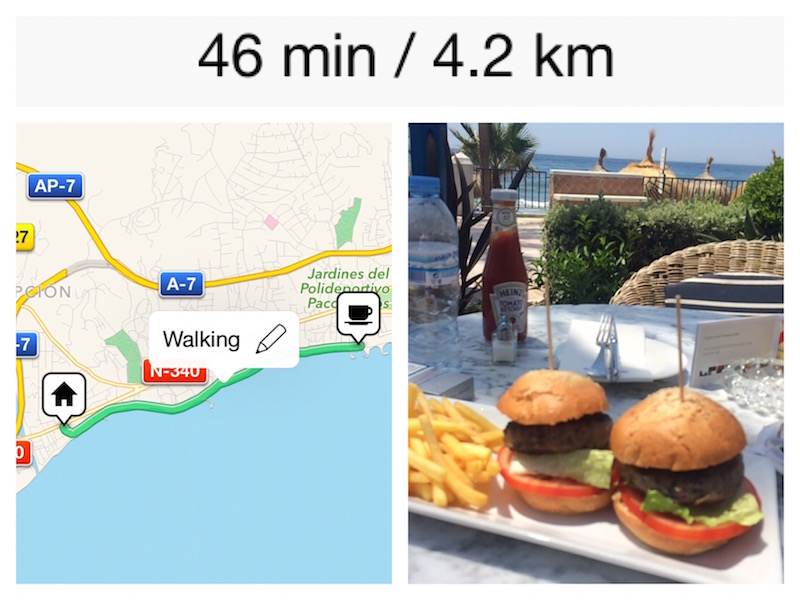 8 km walk