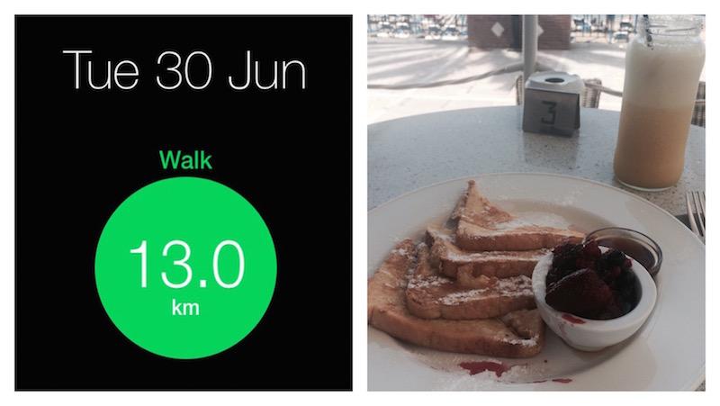 13 km walk