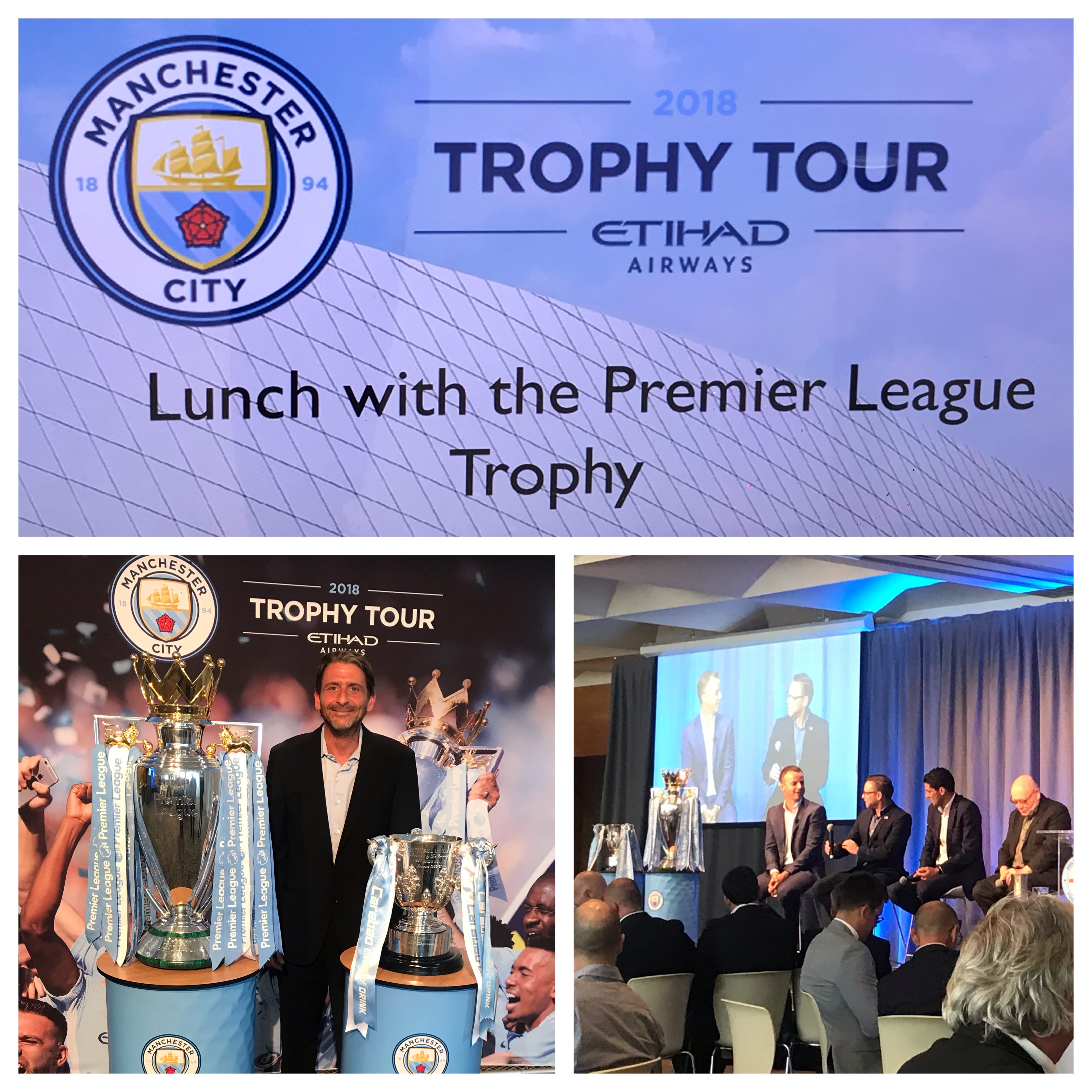 Lunch with the Premier League Trophy