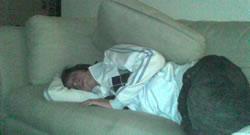 Josh Sleeping In Melbourne