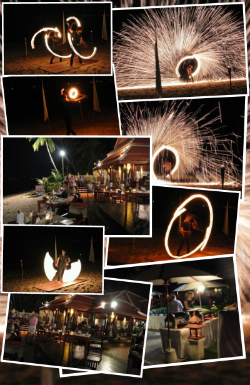 samui buri hotel Fire Show BBQ night