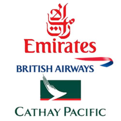 cathay pacific emirate ba