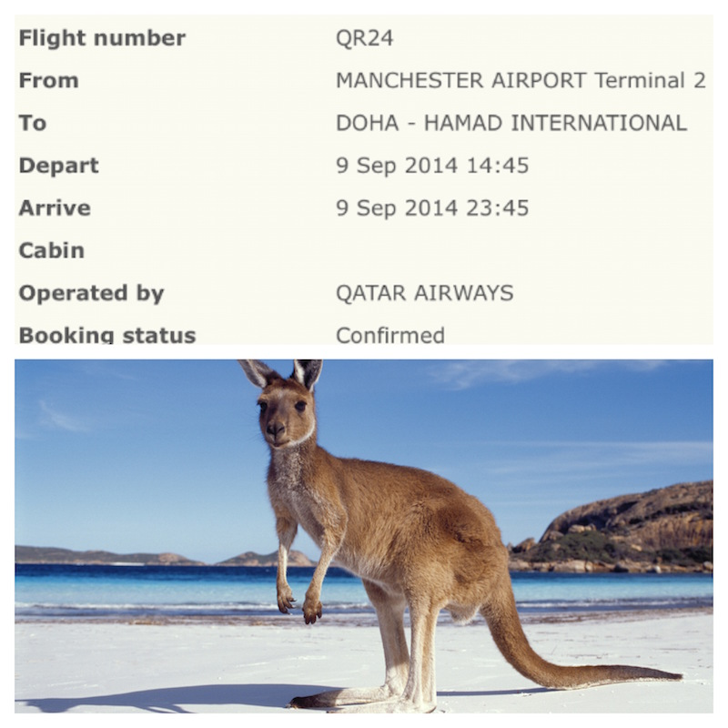 Flight Booked to Australia