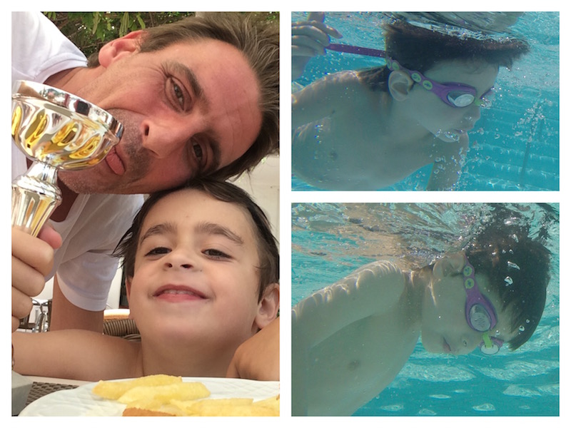 Frankie Swimming