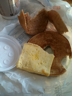 McDonalds breakfast bagel