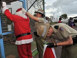 Santa frisked by cops